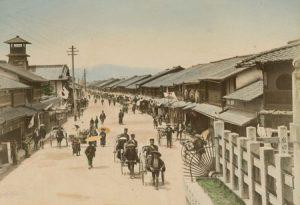 MAIN STREET OF GION-MACHI. KIOTO